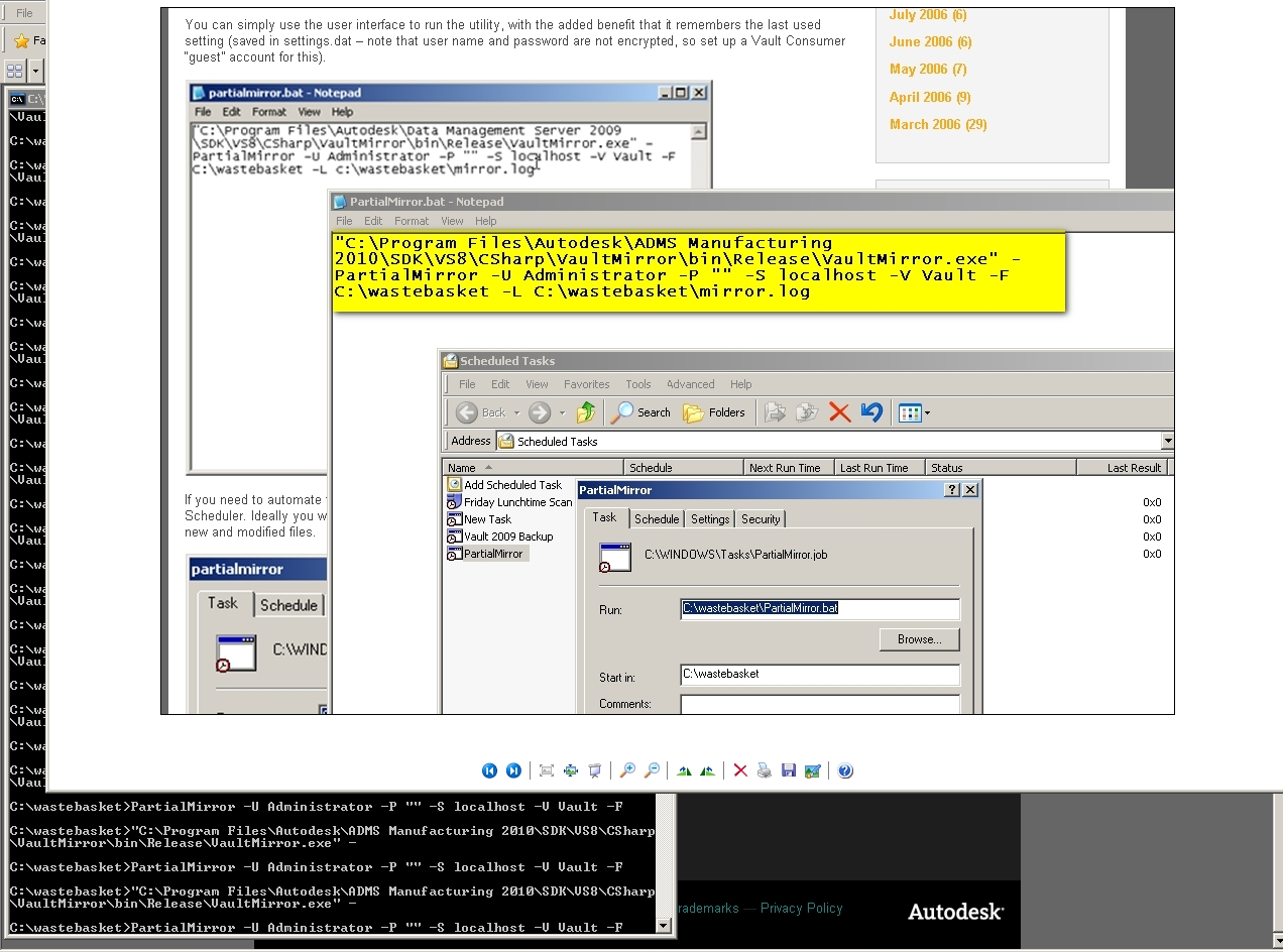 Batch File for Vault Mirror - Autodesk Community- Vault
