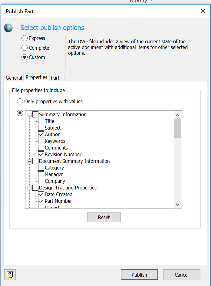Solved: Disabling User Defined properties in  dwf file
