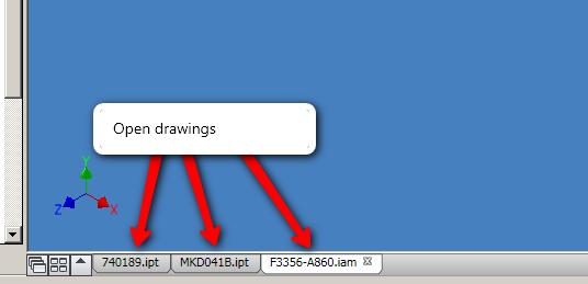 Window Tabs in Autocad 2010 - Autodesk Community- Inventor