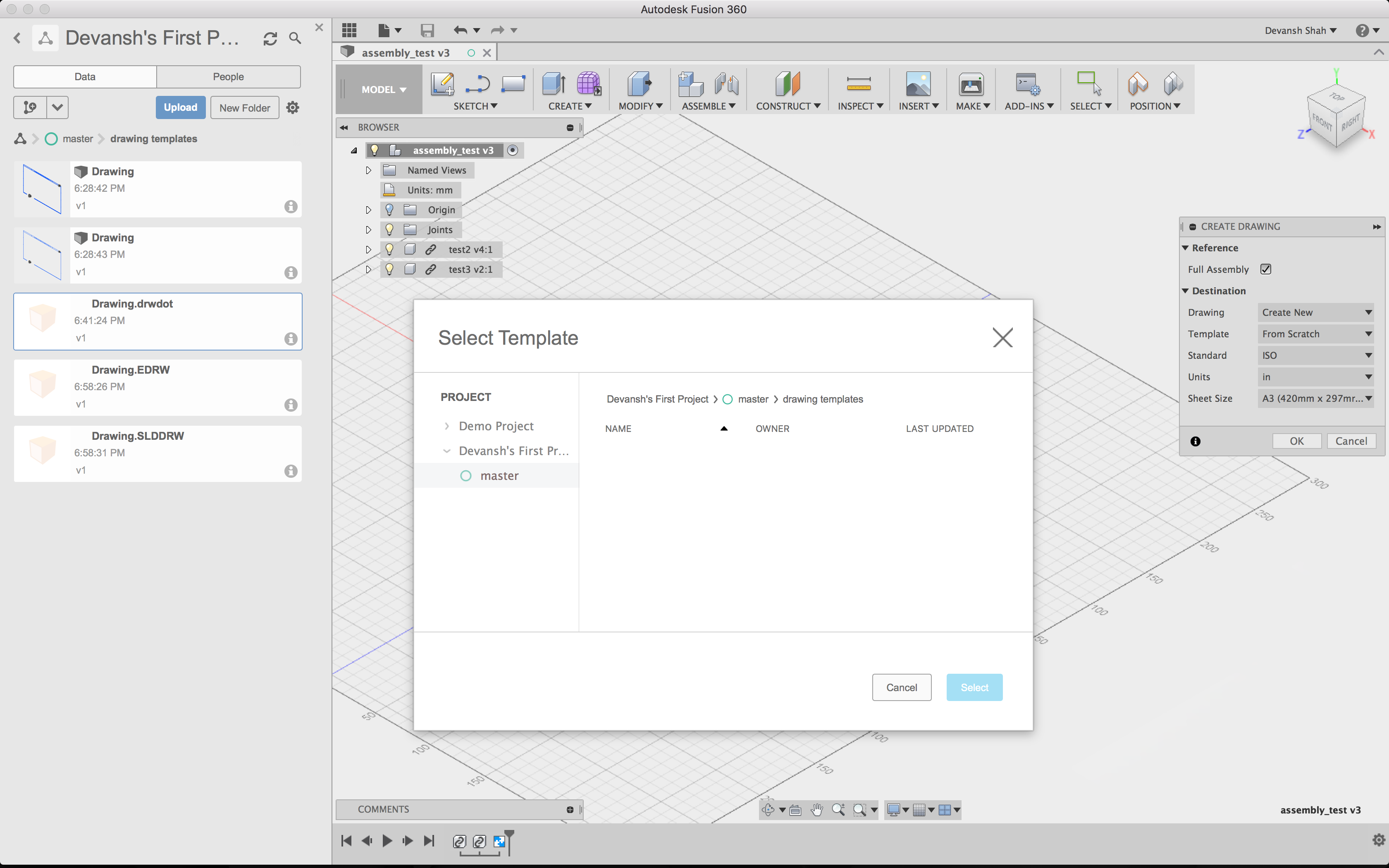 Solved How To Import Drawing Template Into Fusion 360 Autodesk
