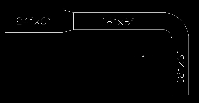 Double-lined Duct Lisp with Auto Text - Autodesk Community- AutoCAD