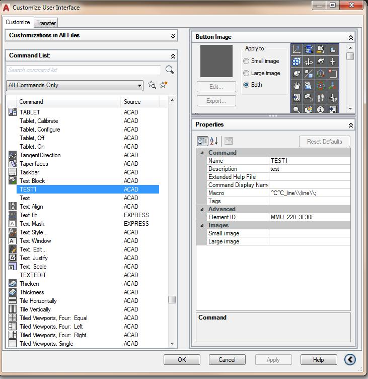 How do you run a custom macro cui command - Autodesk Community- AutoCAD