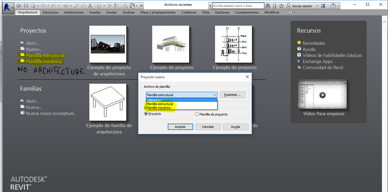 Missing Architecture Template only after Install Revit 2016
