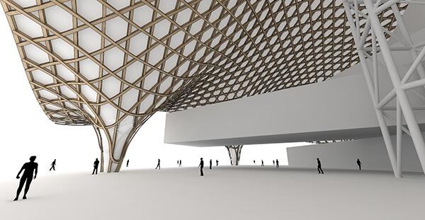 Organic Roof Structure using parametric design - Autodesk
