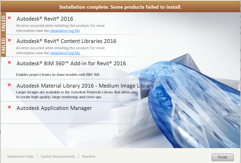 Revit 2016 student license is failing to install - Autodesk