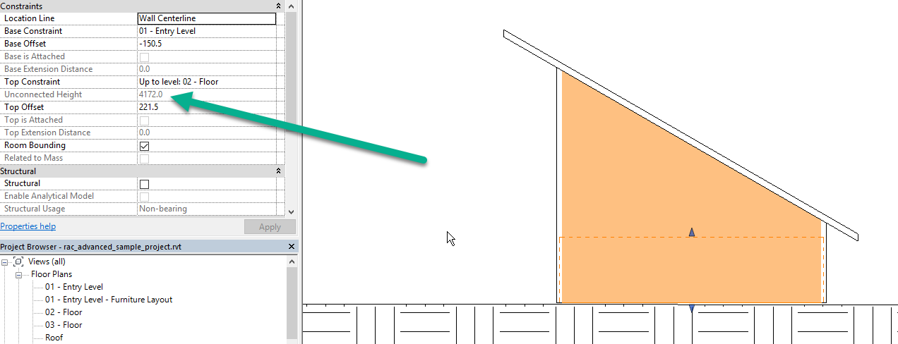 Unconnected Wall Height Parameter Vs Actual Wall Height Autodesk Community Revit Products