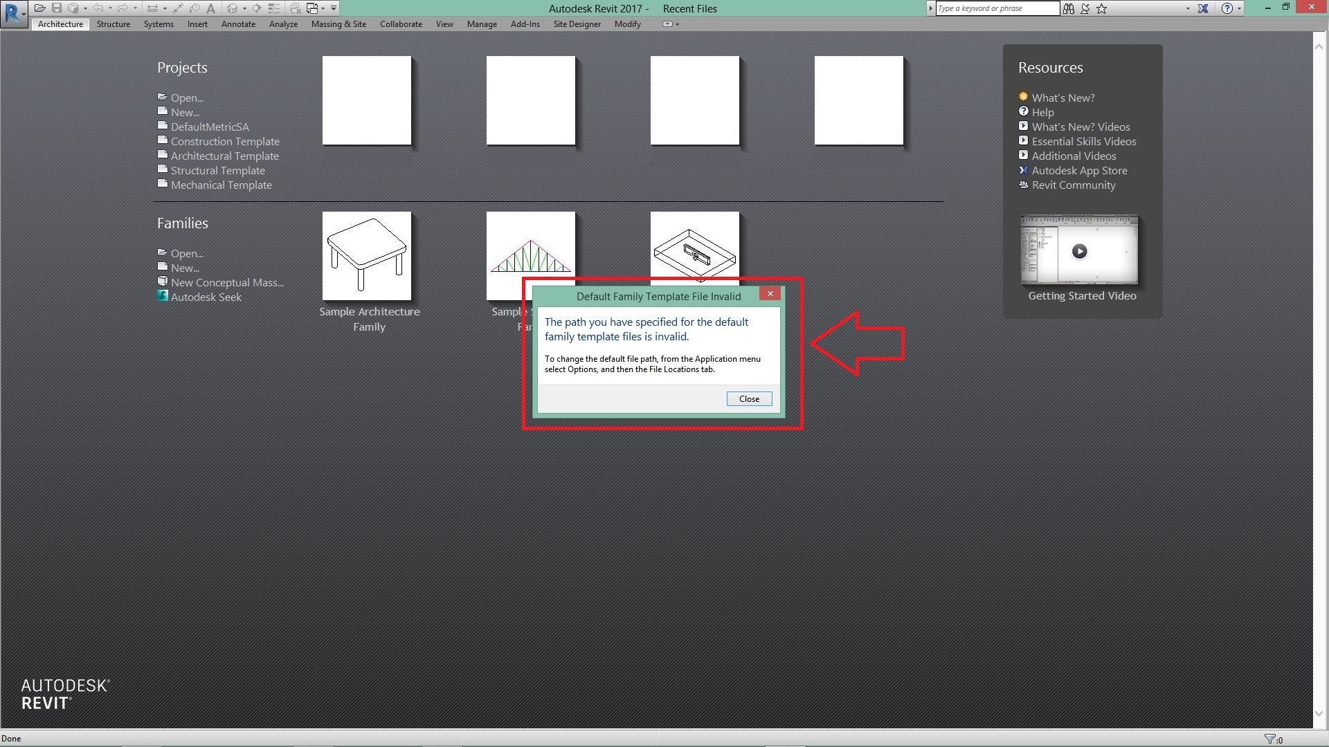 Solved  Revit 2017 Defailt Family Template Folder Missing