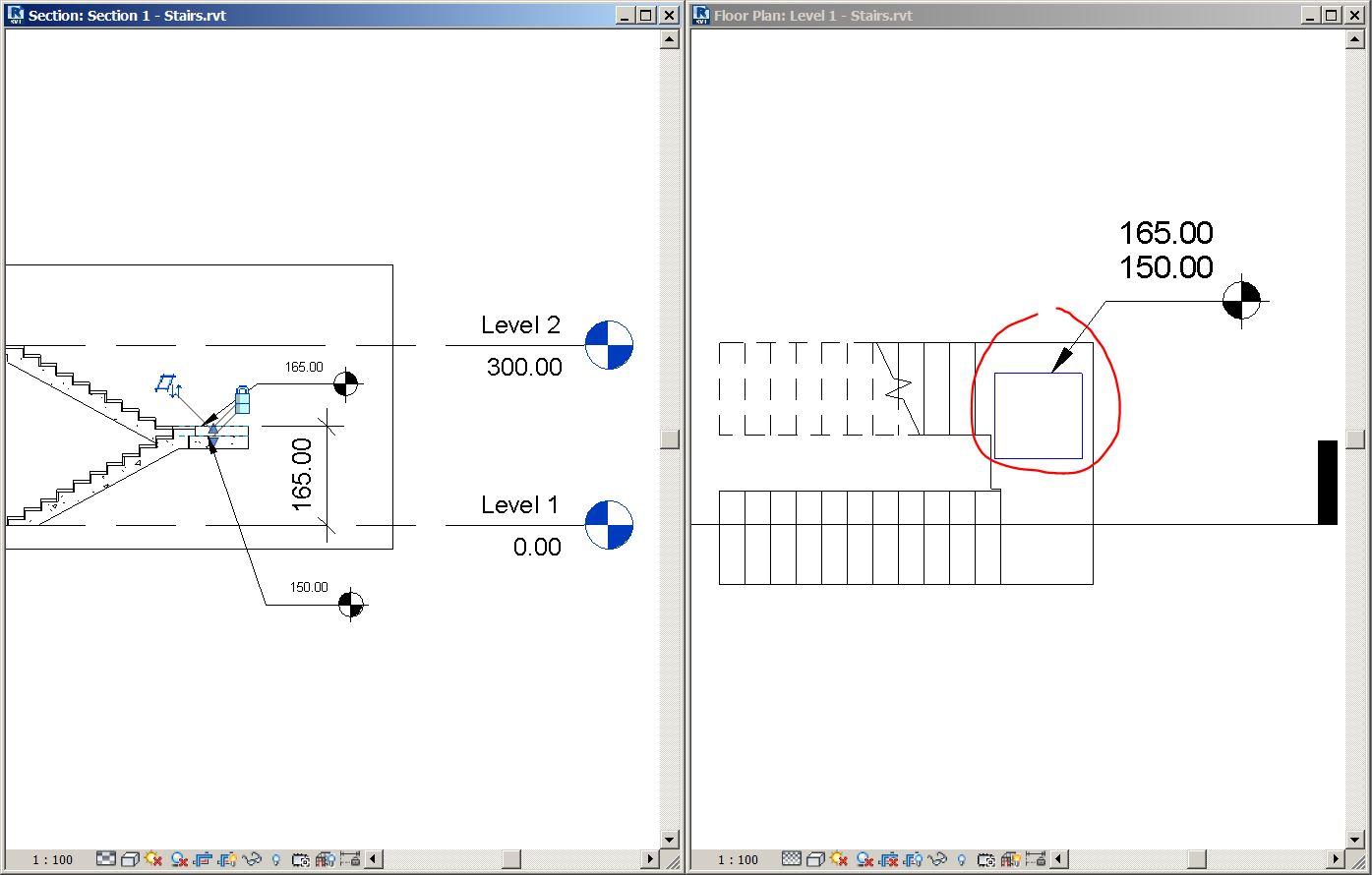 Solved: Spot elevation on stair landings - Concrete part - Autodesk