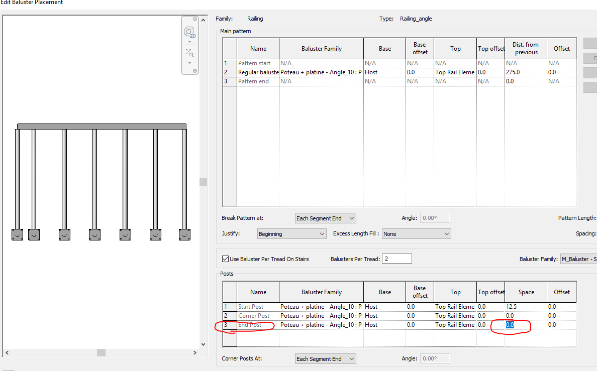 How to create a railing and handrails with slope in Revit ...