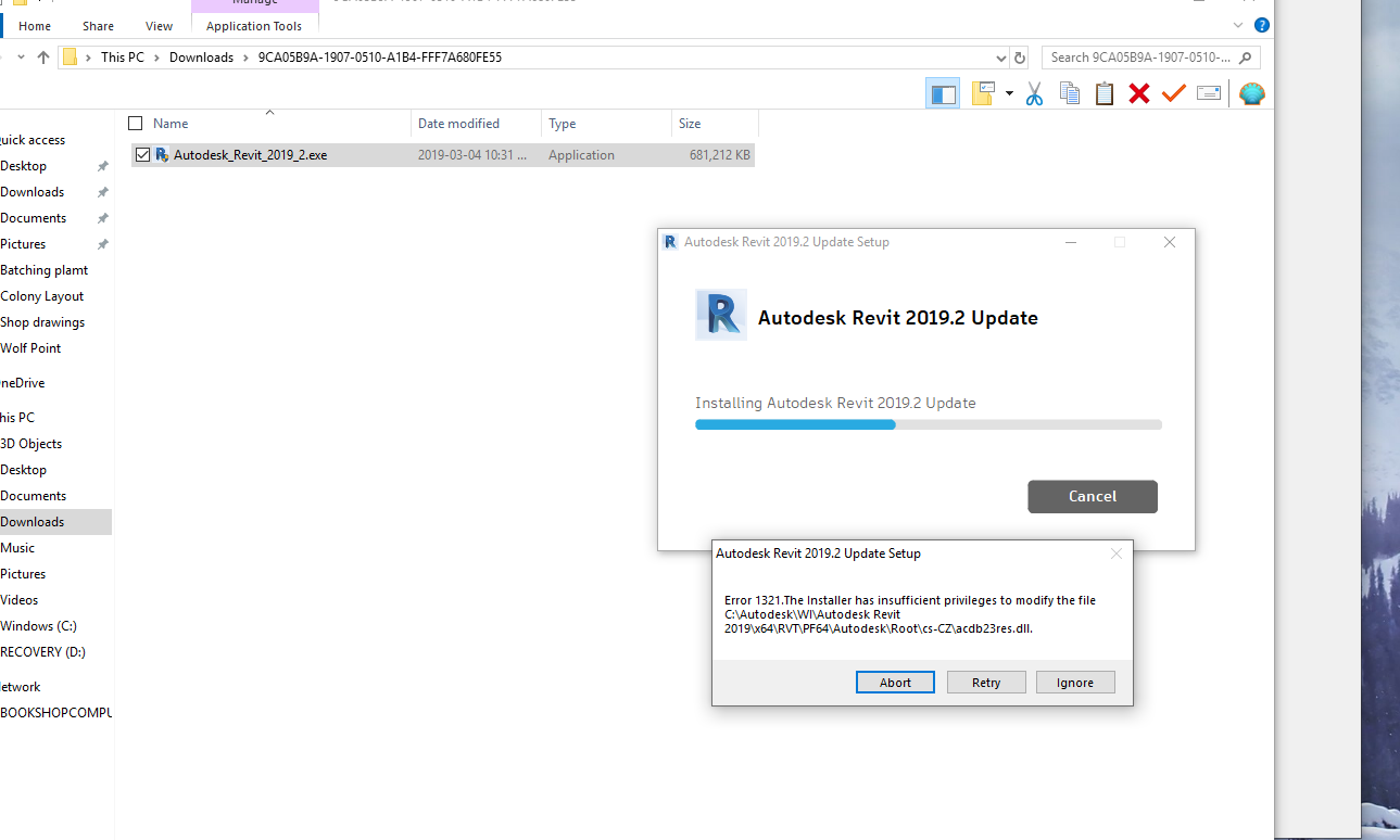 Solved: wont allow me to update from Revit 2019 to 2019 2