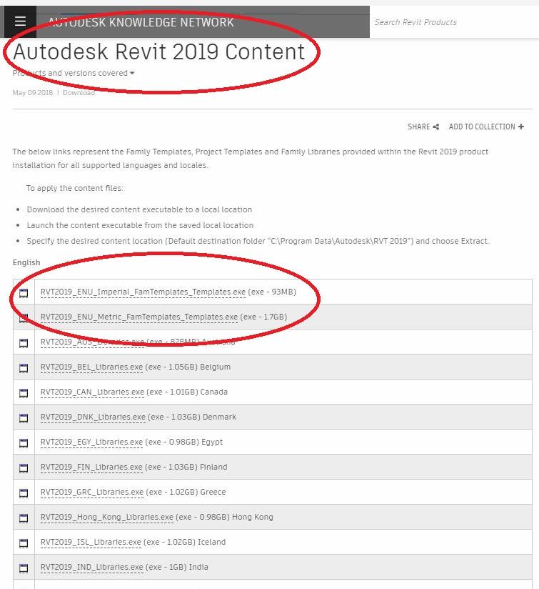 autodesk revit library download