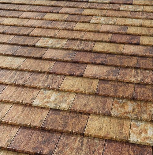 how to create wood tiles for the roof with a adaptative