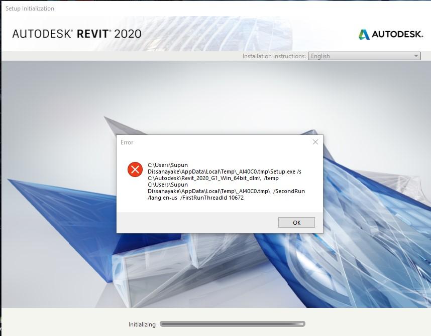 Solved: Error comes when installing Revit versions