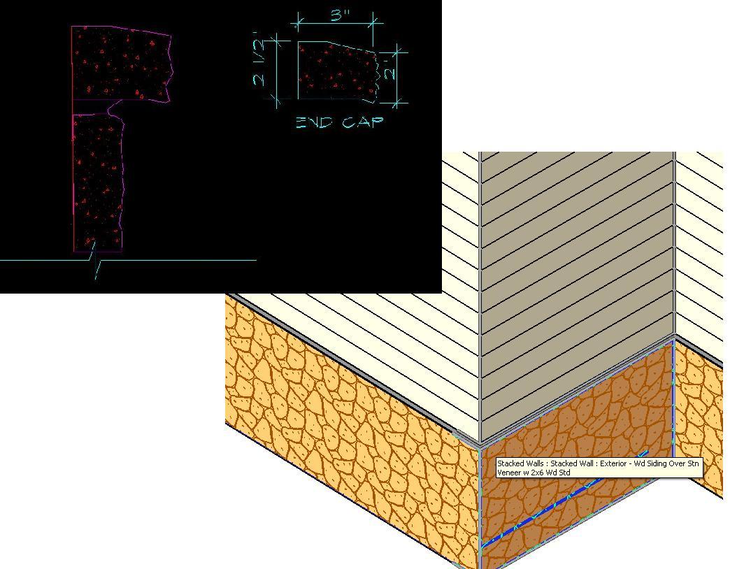 How to create a custom stone end wall cap? - Autodesk