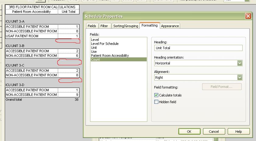 Subtotals in schedule - Autodesk Community- Revit Products