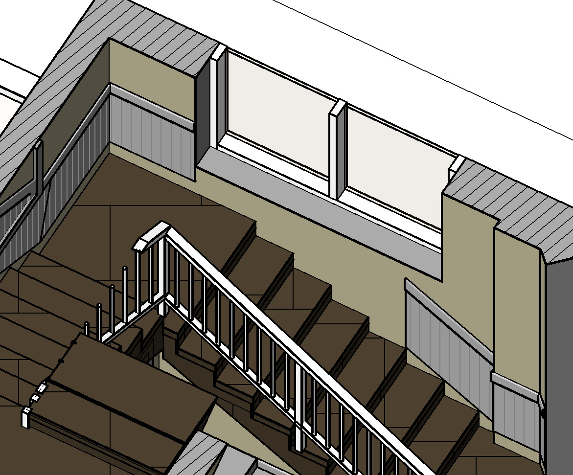 Chair Rail Revit Part - 28: How To Create Railings Along Stairs That Stops At A Window? - Autodesk  Community