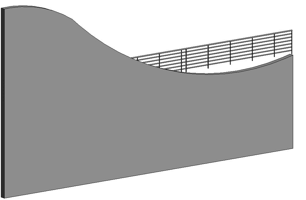 wall with railing railing over the wall top face autodesk community