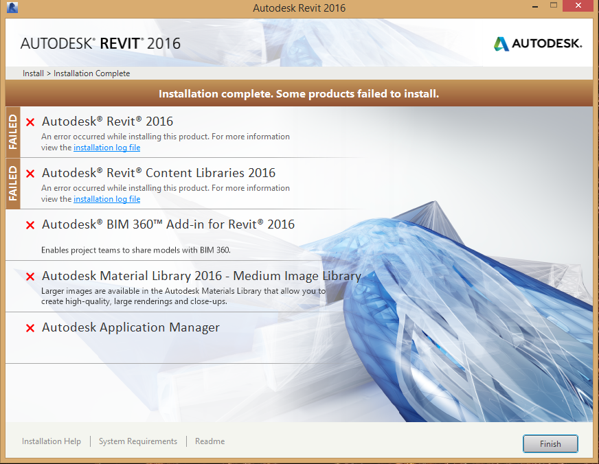 Revit 2016 failed installation - Autodesk Community