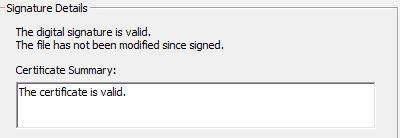 Solved: Digital Siganture details X509 error - Autodesk Community