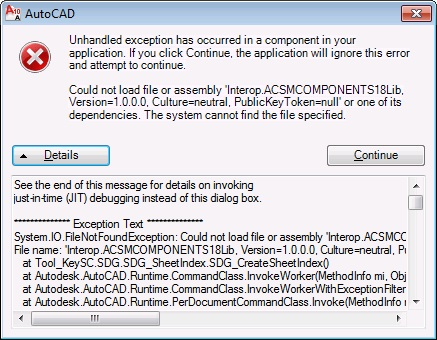 Sheet Set Components Error on Win 7 64-bit Machine - Autodesk