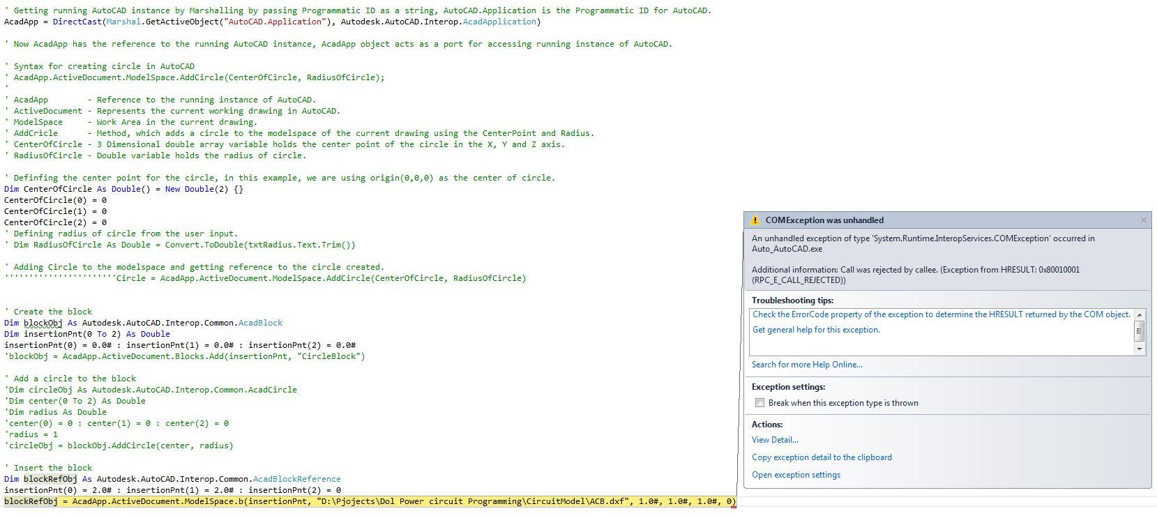Vb net Autocad Insert Block From File - aspawurl's blog
