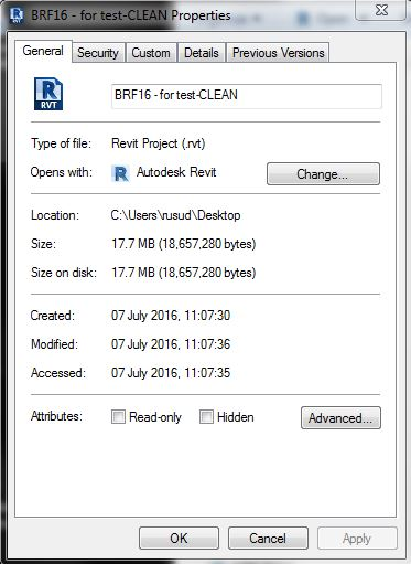 eTransmit Revit 2017 file is getting bigger rather than