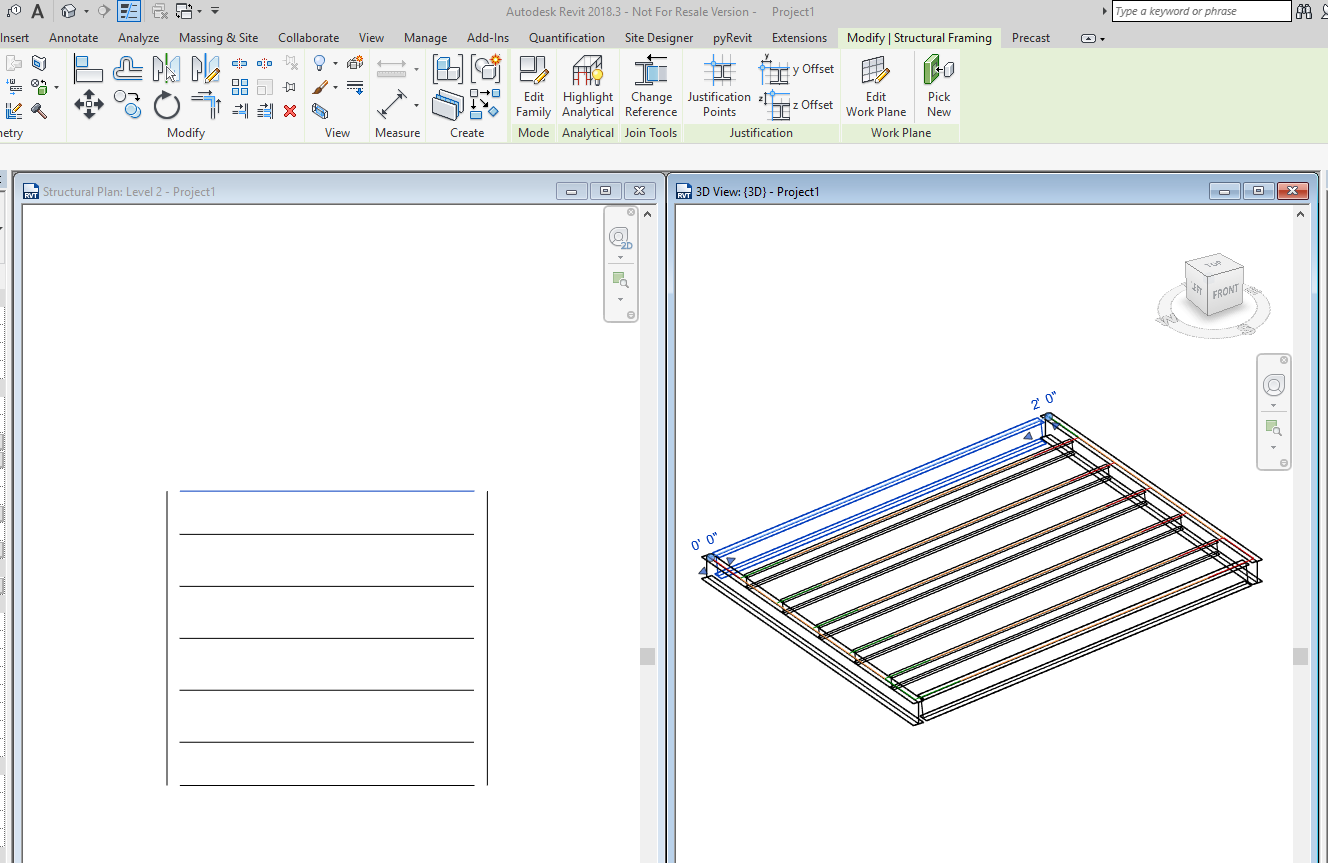 Beam system cut back graphic in plan - Autodesk Community- Revit