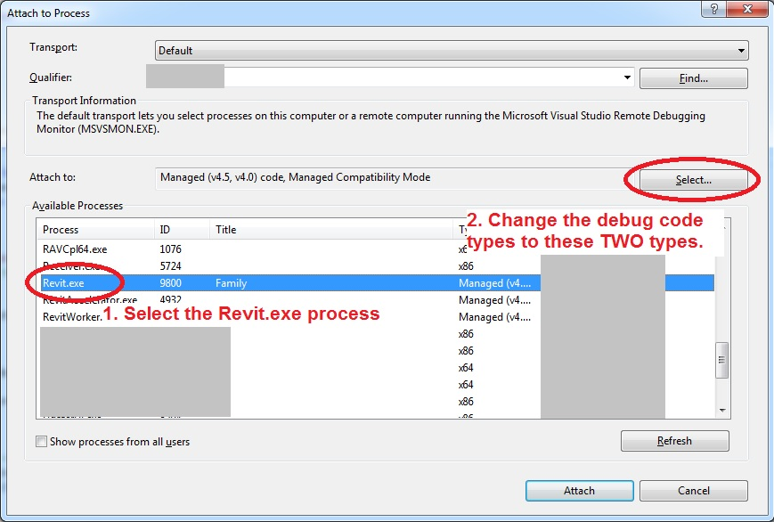 Visual studio 2015 and  NET 4 6 1 debugging problem
