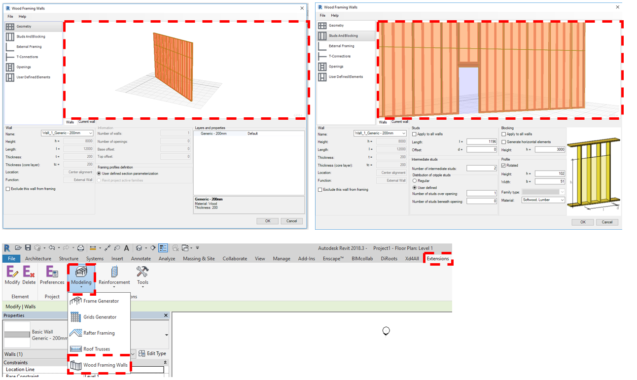 Using a geometry viewer in a revit addin to preview results