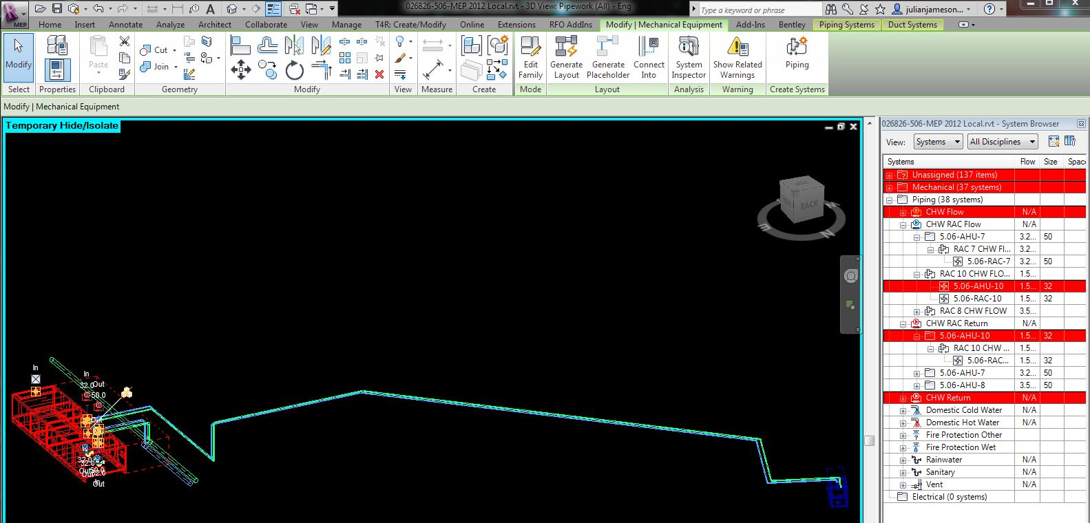 Solved Pipe System To Same Of A Different Name Piping Layout Meaning Autodesk Community Revit Products