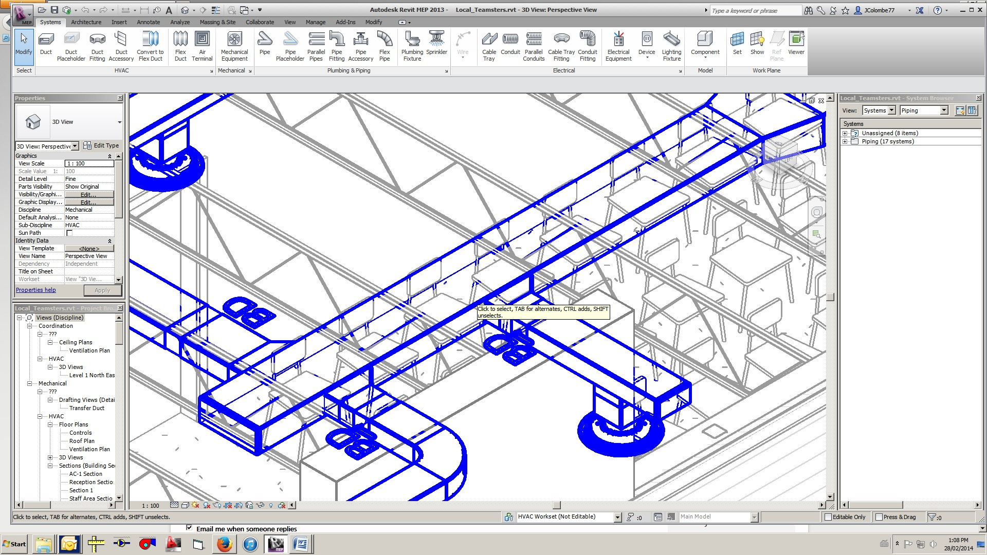 Solved: Arch linked Model showing through ducts - Autodesk Community- Revit  Products