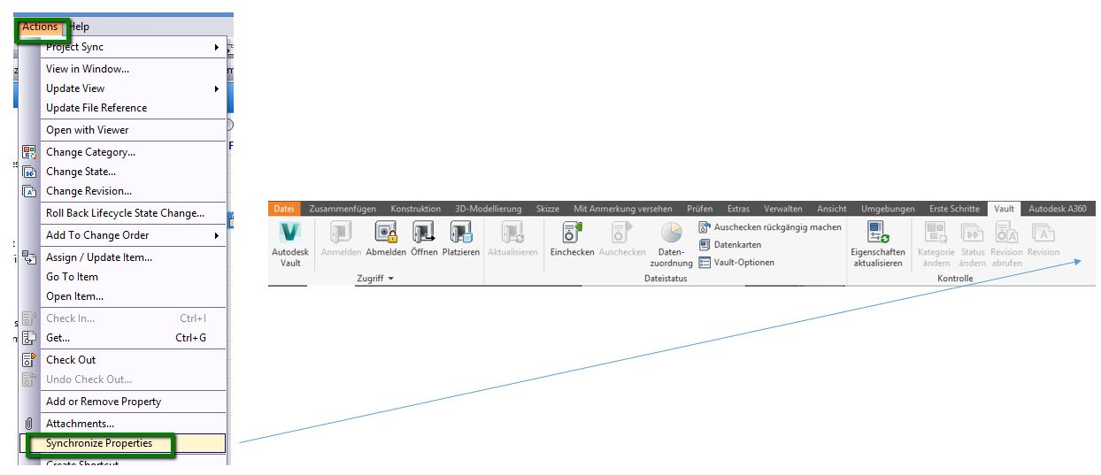 synchronize Vault properties from Inventor by adding a