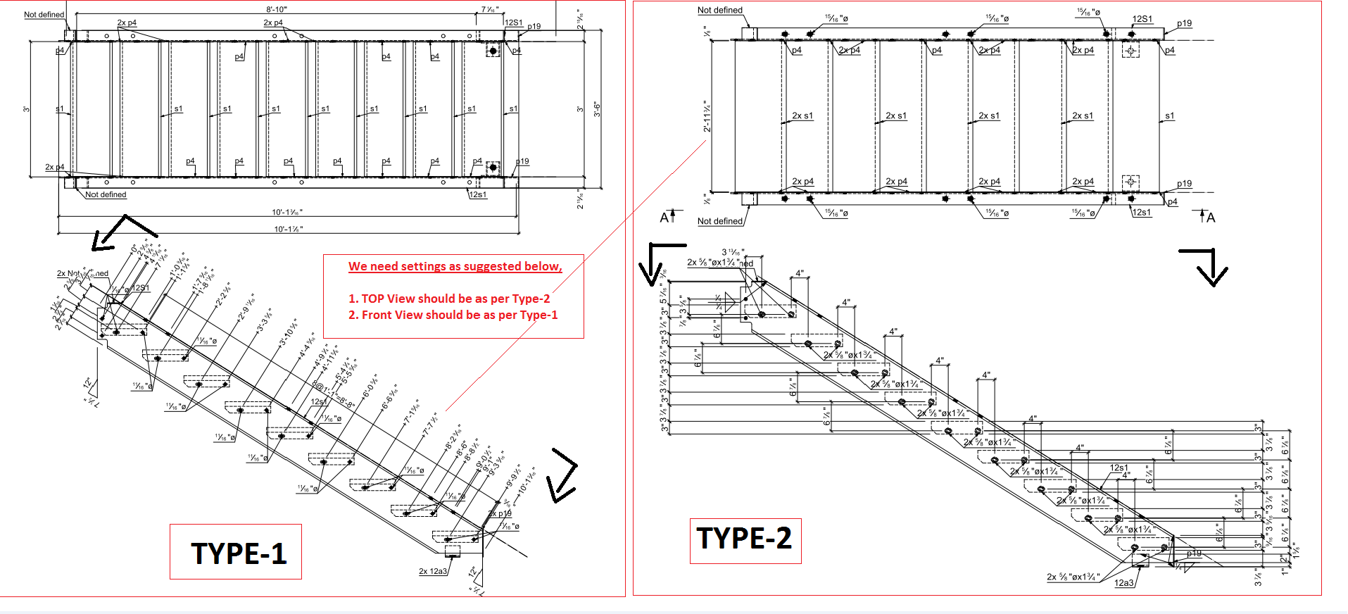 Solved: Stair Object View Setting In 2D Drawings   Autodesk Community   Advance Steel