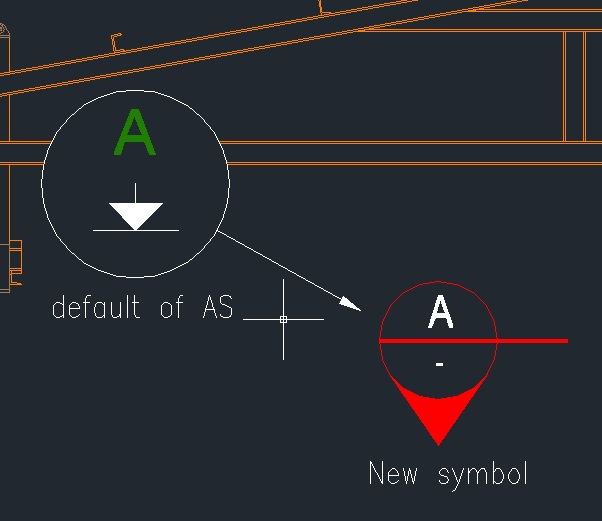 How can i change a symbol of section view - Autodesk Community