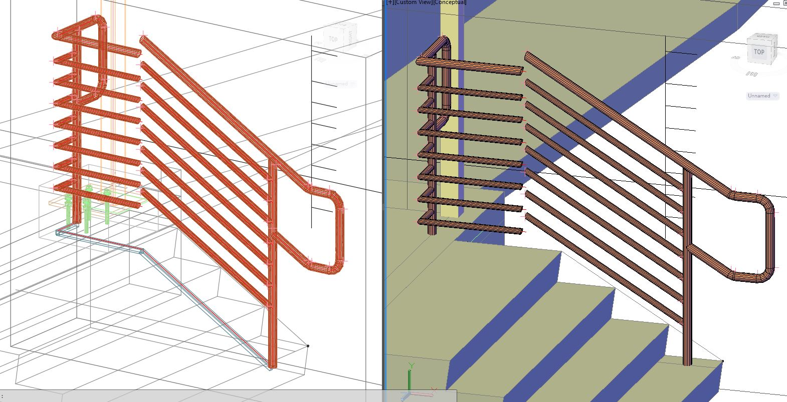 Solved: Middle handrail not connecting - Autodesk Community