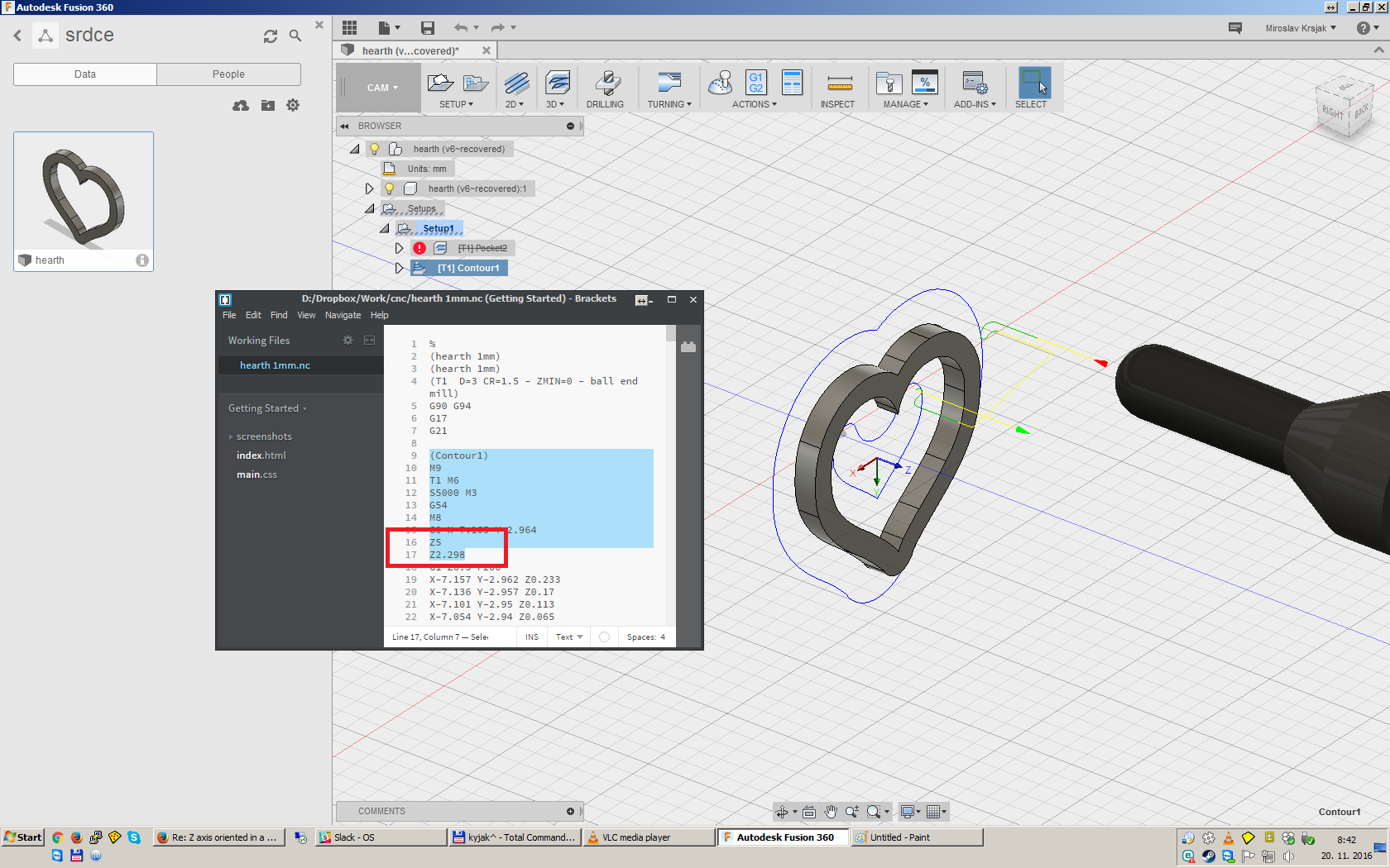 Z axis oriented in a wrong direction - how to swap GCODE z