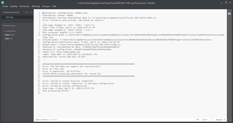 Amada Post Processor creats error! - Autodesk Community