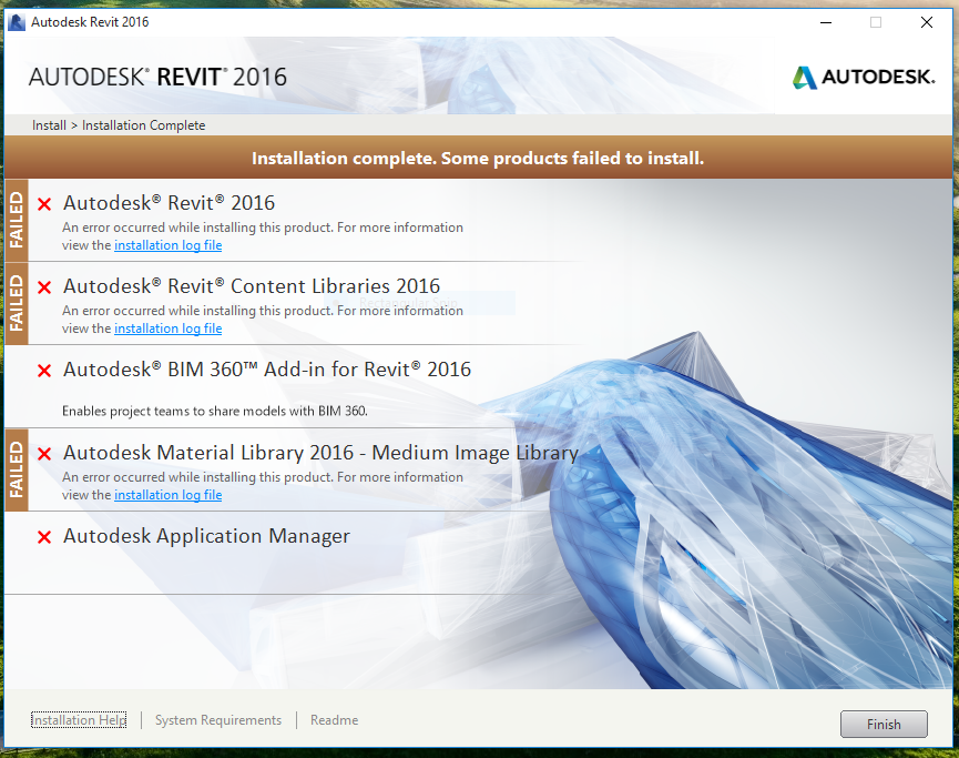 Solved: Problem install revit 2016 to windows 10 - Autodesk
