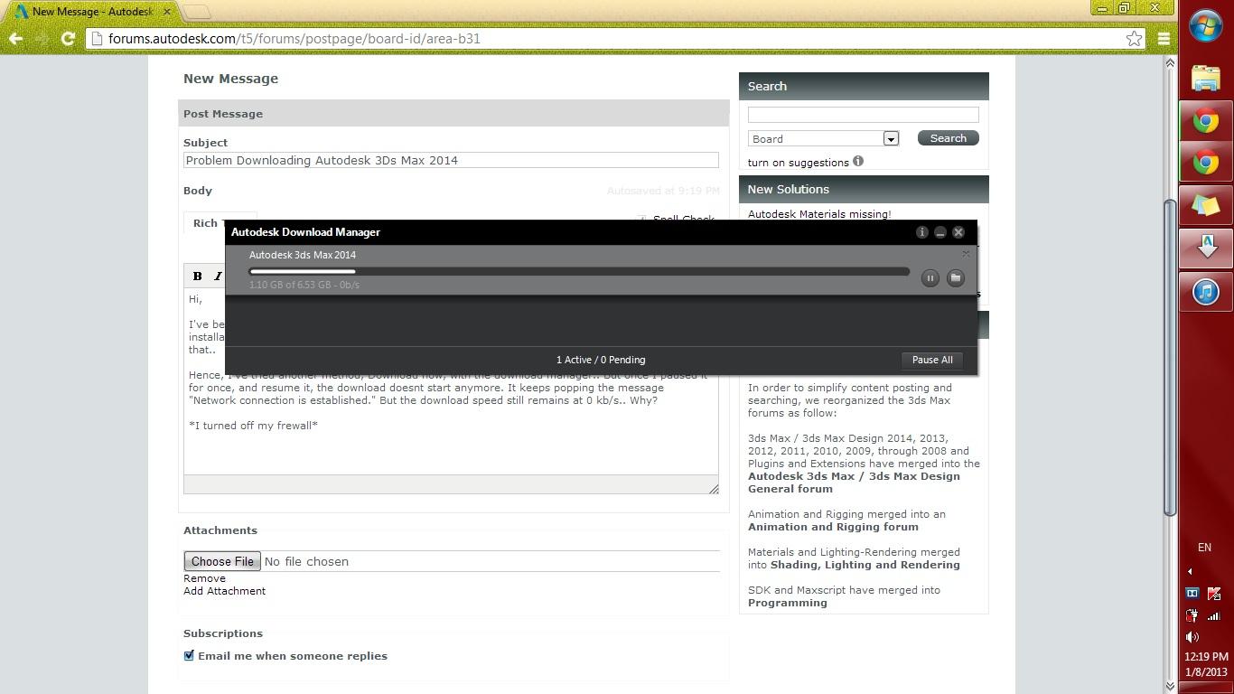 Problem Downloading Autodesk 3Ds Max 2014 - Autodesk Community