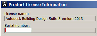 serial number installed and serial number in license server file