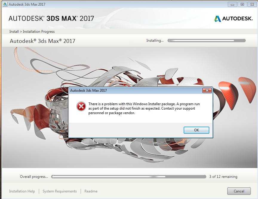 Solved  3ds Max 2017 Install Error