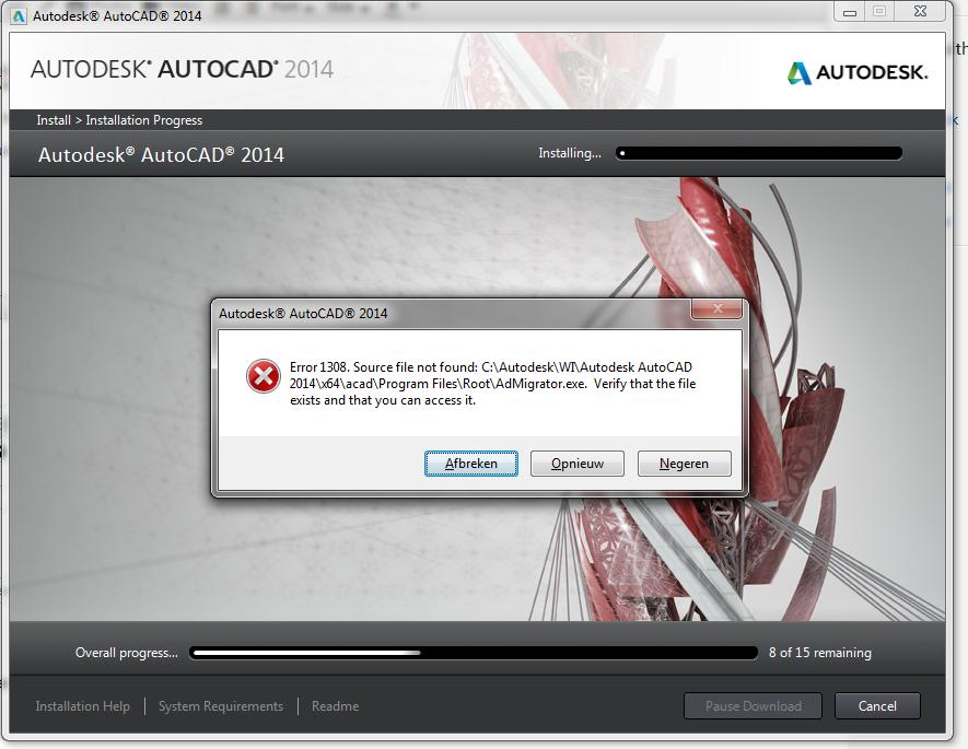 Error 1308 source file not found help autodesk community civil 3d.