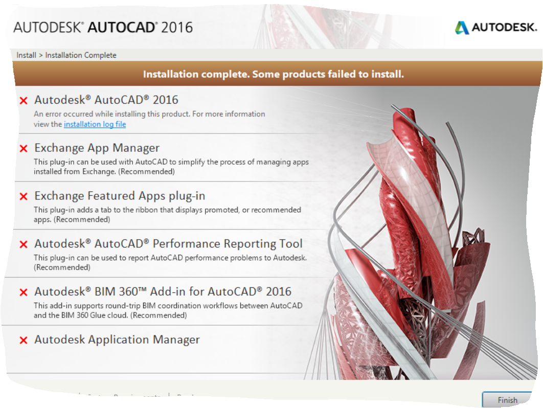 Solved: AutoCad 2016 there is a problem with the windows