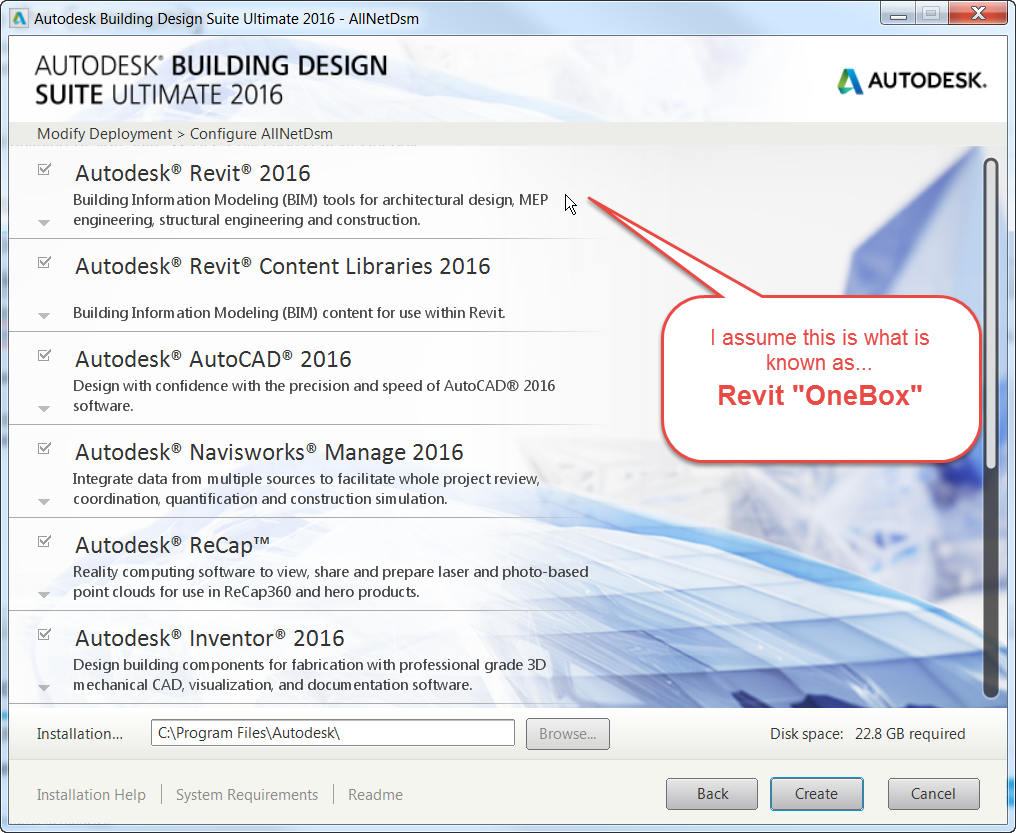 Solved: Diff's Revit Building Design Suite <> AEC Collection & Revit OneBox  - Autodesk Community- Installation and Licensing