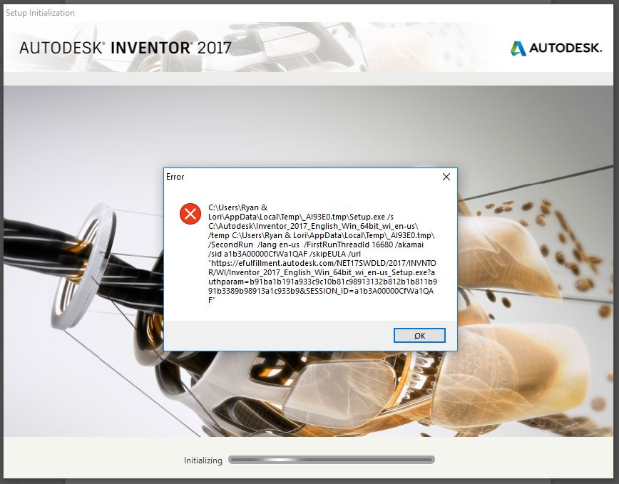Inventor 2017 Initialization Error - Autodesk Community