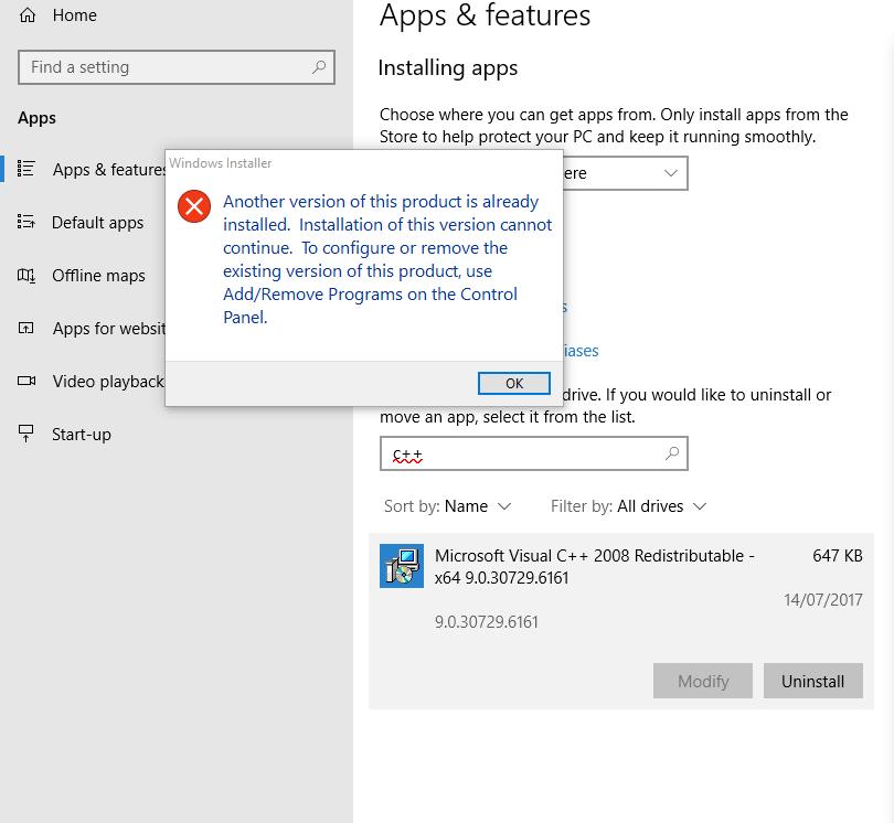 autocad installation failure on windows 10 - Autodesk