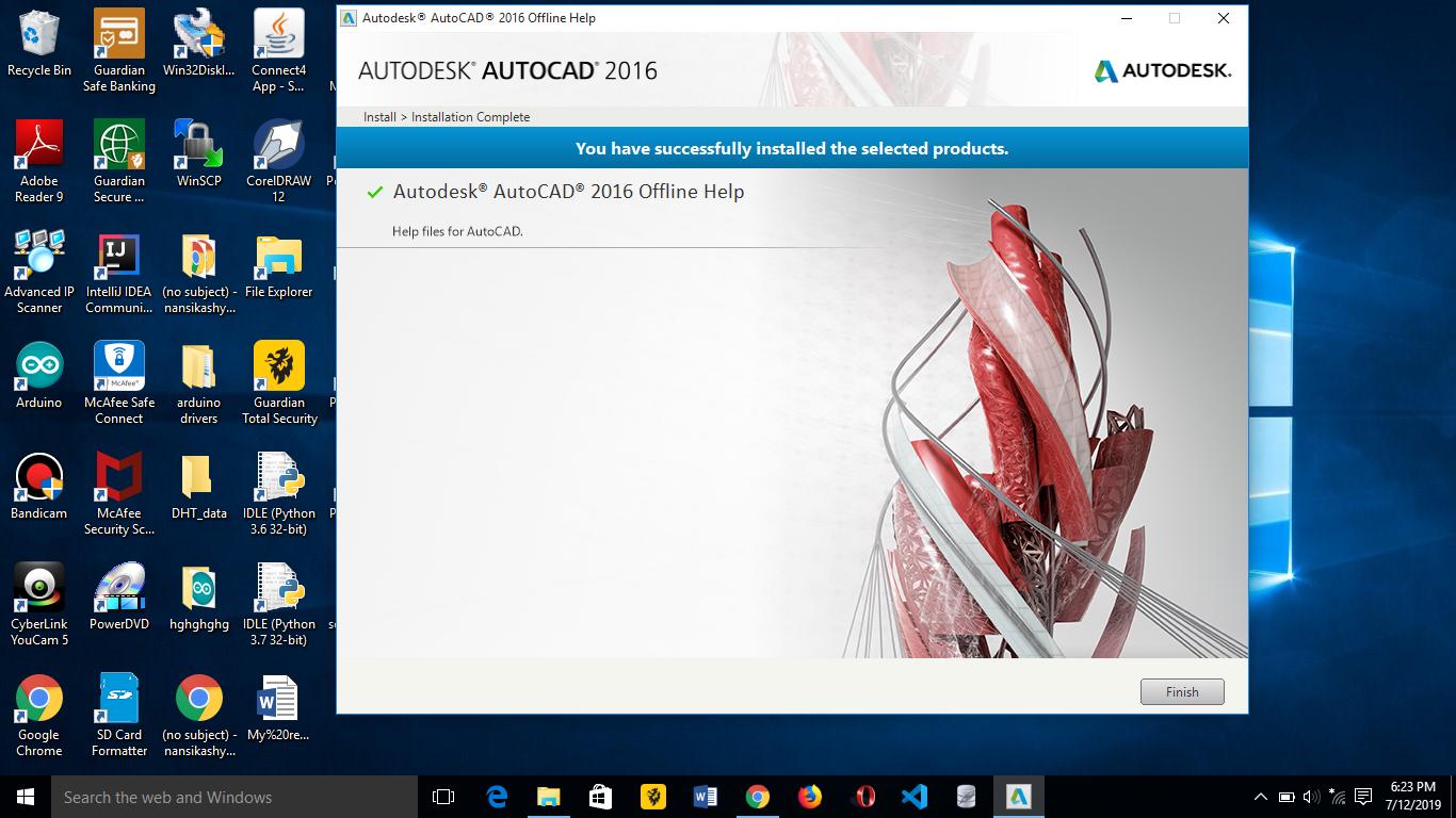 Problem In Installation Autocad 2016