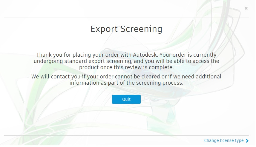 Export screening - Autodesk Community - Subscription, Installation and  Licensing