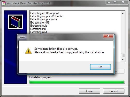 revit architecture installation failure autodesk community