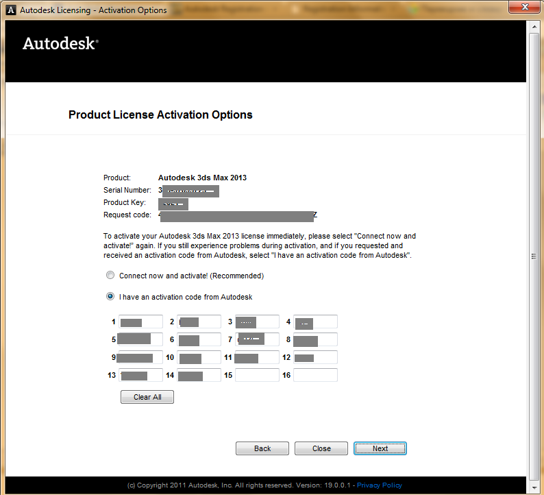 autodesk 3d max 2013 serial number and product key